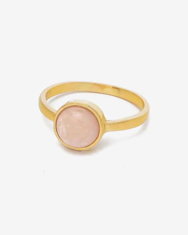 Ring Mini Globe 7 mm - Rosa Opal