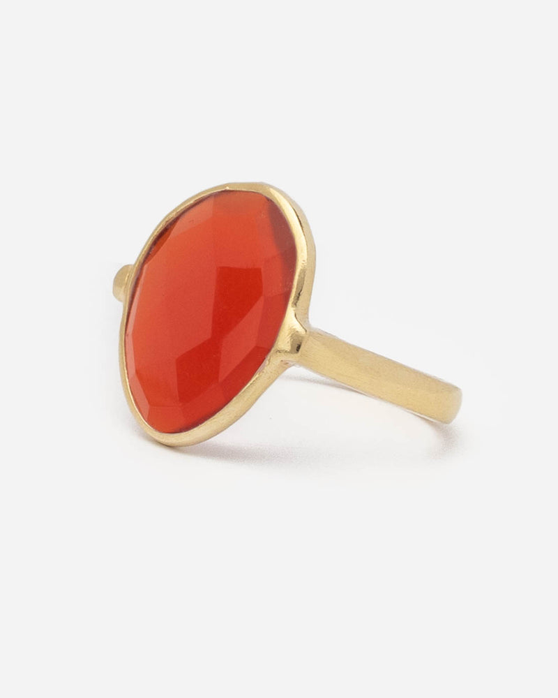 Ring Oval 17 mm - Red Onyx