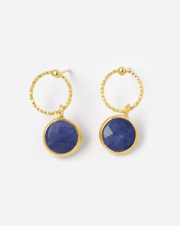 Ohrstecker Ring and Plate Lapislazuli