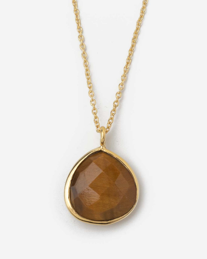 Halskette Flat Triangle Red Tiger Eye