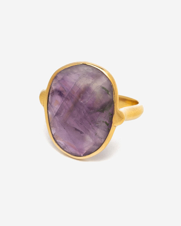 Ring Oval 17 mm - Indian Amethyst (Violett)