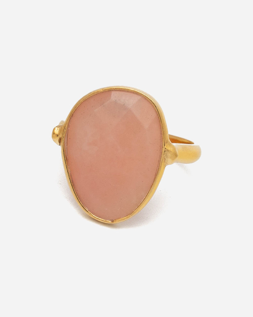 Ring Oval 17 mm - Rosa Opal
