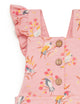 Native Bird Print Wattle Overalls