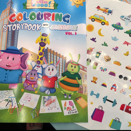 SALE : BELLABOO - COLORING & STICKER BOOK