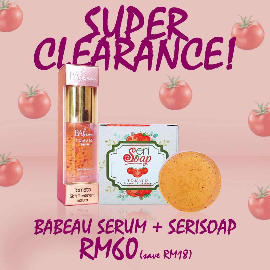 SUPER CLEARANCE SALE : BA BEAU SERUM + SERISOAP (DS)