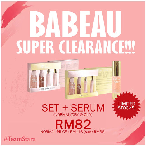 SUPER CLEARANCE SALE BABEAU SKINCARE + SERUM BABEAU (DS)