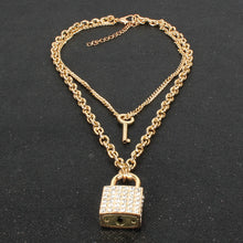 Load image into Gallery viewer, Lock it Necklace