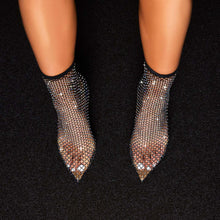 Load image into Gallery viewer, Rhinestone Fishnet High Heel
