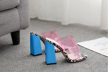 Load image into Gallery viewer, Pink  Candy Transparent Slingback Heels