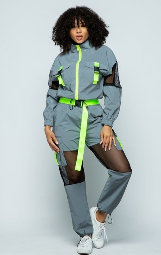 Cool, Calm, and Reflective Tracksuit