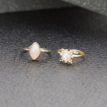 Load image into Gallery viewer, Gold Bejeweled Ring Set - TopNotch{C}