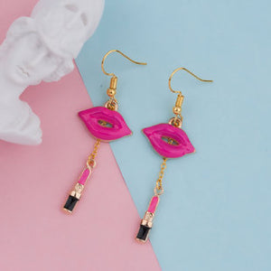 Candy Red Lipstick Earrings - TopNotch{C}