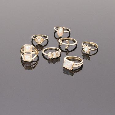 Gold Bejeweled Ring Set - TopNotch{C}
