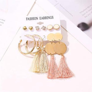 Sassy  Tassel Earrings set - TopNotch{C}