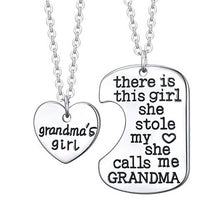 Load image into Gallery viewer, Necklace Stole My Heart DADDY MOMMY GRANDMA GRANDPA
