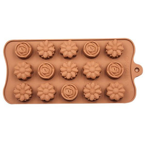 Silicone chocolate bakeware 15 holes