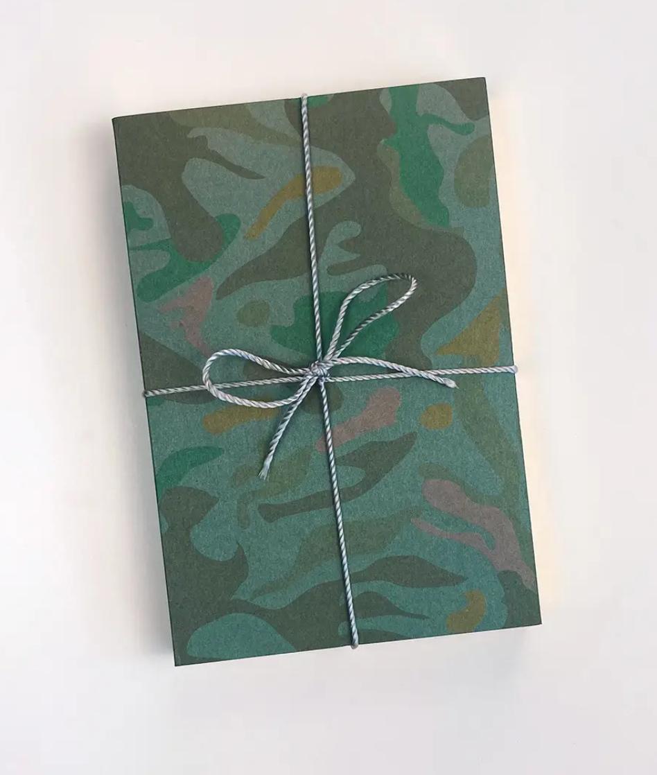 Camo Jotters: Green with Gold Trim