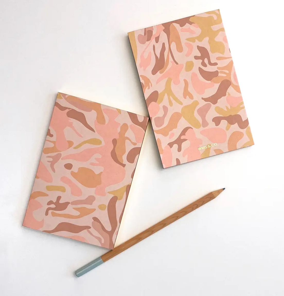 Camo Jotters: Blush with Gold Trim