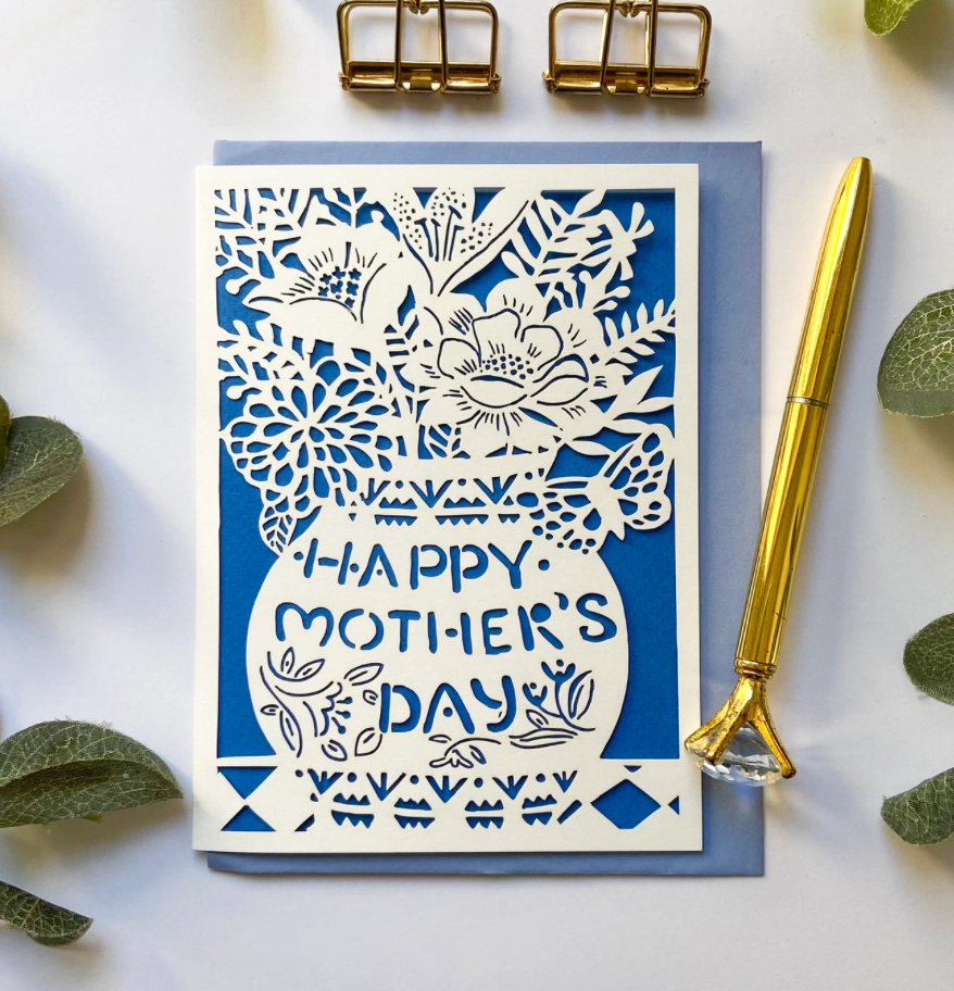 Mother's Day Flower Vase Card