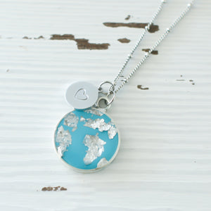 He's Got the Whole World in His Hands Necklace in Silver