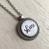 Shine Inspirational Quote Pendant Necklace