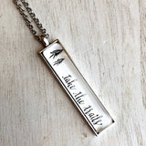 Take the trails nature quote necklace