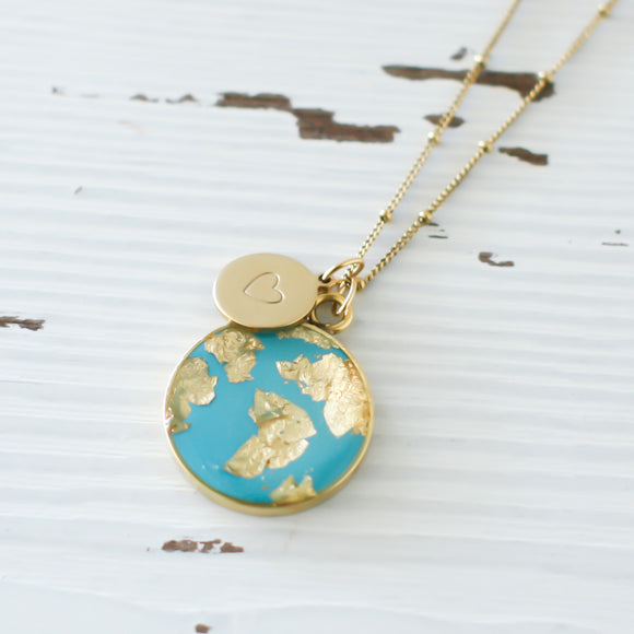He's Got the Whole World in His Hands Necklace in Gold