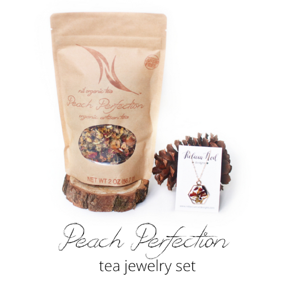 Peach Perfection Tea Jewelry Set