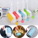 1pc Hot Remover Washable Brush Fluff Cleaner Sticky Picker Lint Roller Carpet Dust Pet Hair Clothes Reusable Home Essential Tool