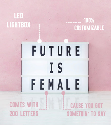 Brooklyn Lighting Company 12 x 9 Inch Cinematic Light Box With 200 Letters