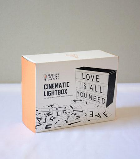 Brooklyn Lighting Company 5.9 x 3.8 x 1.7 Inch Cinematic Lightbox With 100 Tiles