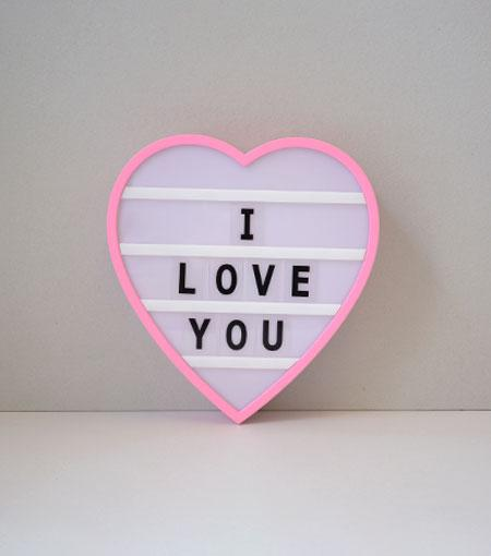 Brooklyn Lighting Company 9.6 x 9 x 1.8 Inch Heart-Shaped LED Light Box With 100 Tiles