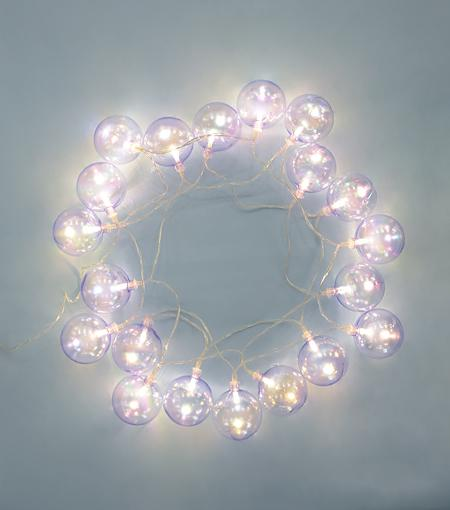 Brooklyn Lighting Company Iridescent  White Bubble Lights