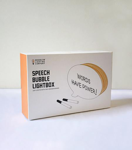 Brooklyn Lighting Company 10 x 7 x 2 Inch Wood Speech Bubble Lightbox