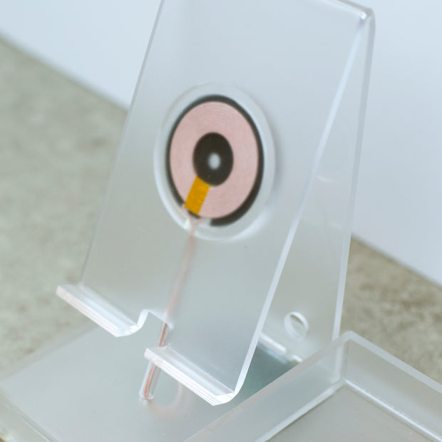 Wireless Charging Station, Phone Stand & Organizer - Acrylic - Frosted