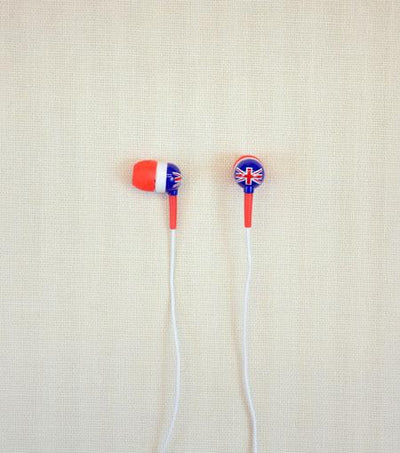 Audiology Bulldog Union Jack Print Stereo Earphones