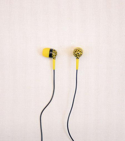 Audiology Safari Leopard Print Stereo Earphones
