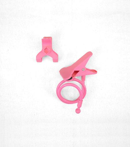 Audiology Pink Universal Flexible Smartphone Mount Clamp