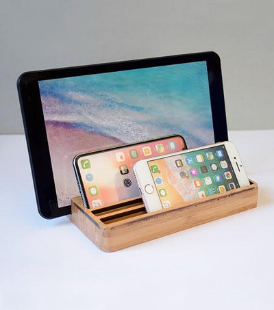 Audiology Wooden Desktop USB Charging Station For Smartphones And Tablets