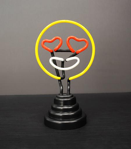 Funderdome USB Powered Eye Love You Emoji Neon Light
