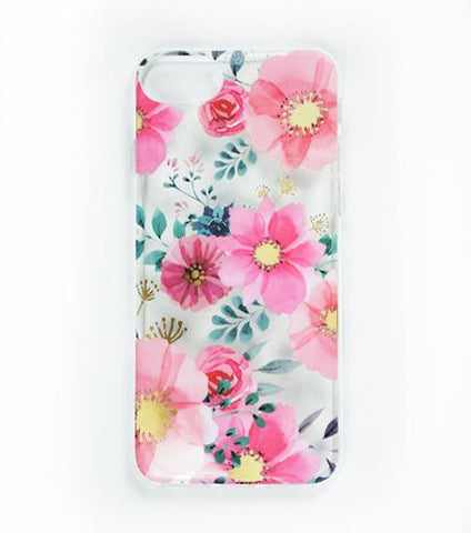 LMNT Light And Dark Pink And Green Printed Flower iPhone®Case