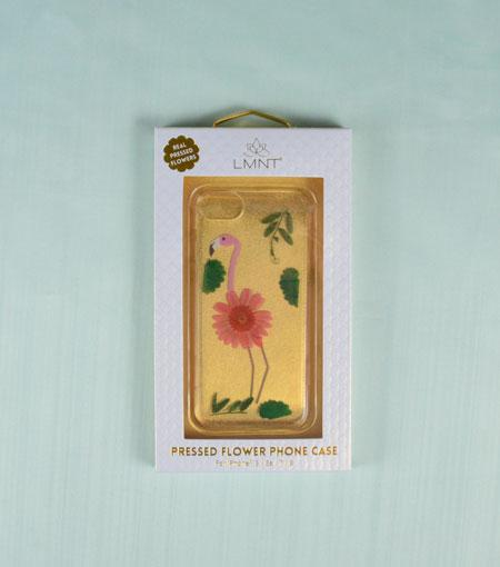 LMNT Pink Flamingo Pressed Flower iPhone®Case