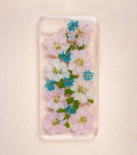 LMNT Glitter Pressed Flower iPhone®Case