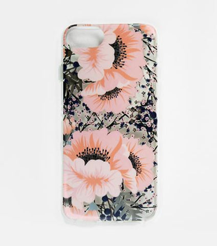 LMNT Blue And Pink Printed Flower iPhone®Case