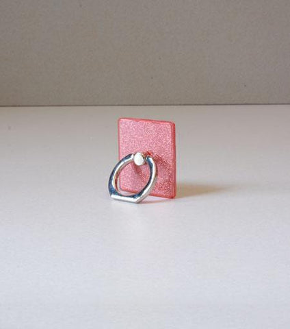 LMNT Rose Quartz Glitter Universal Cell Phone Ring Stand