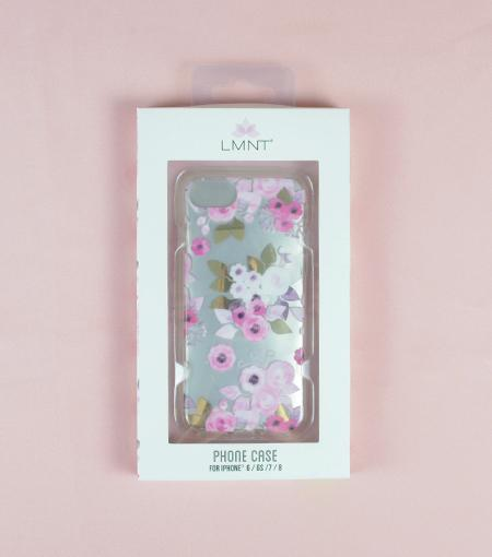 LMNT White, Pink And Purple Printed Flower iPhone®Case