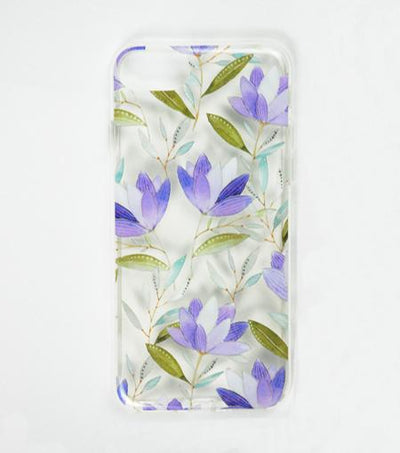 LMNT White, Blue And Violet Printed Flower iPhone®Case