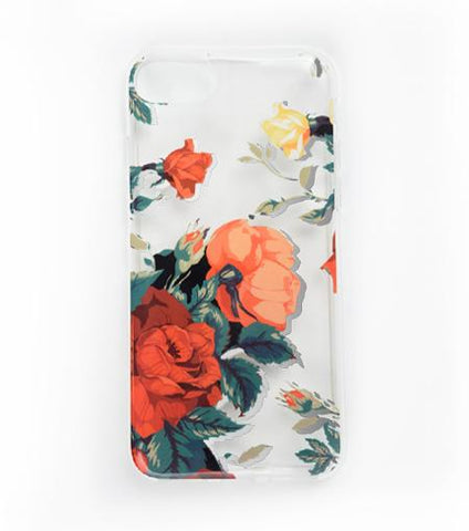 LMNT Dark Red, Pink And White Printed Flower iPhone® Case