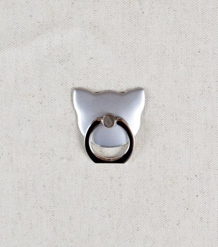 LMNT Silver Cat Universal Cell Phone Ring Stand