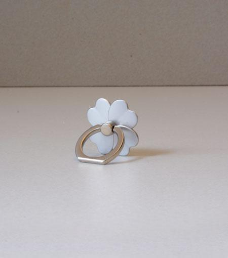 LMNT Silver Flower Universal Cell Phone Ring Stand